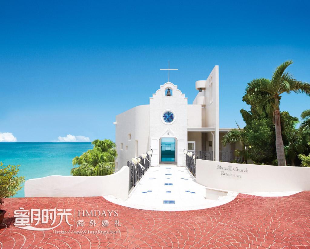 古朴典雅的丽贝拉libera教堂 冲绳丽贝拉(海之心)教堂婚礼