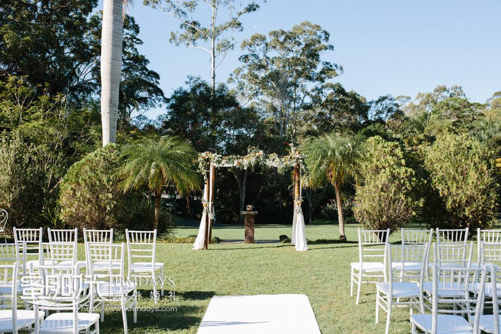 草坪婚礼拍摄 澳洲庄园草坪婚礼