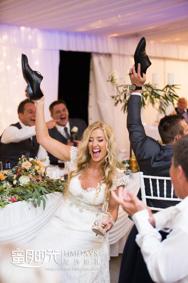 活泼的新娘 澳洲庄园婚礼晚宴