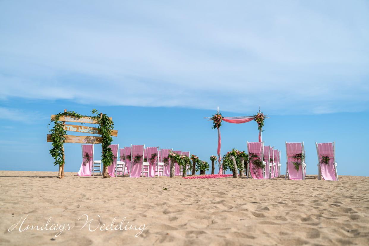 巴厘岛肉桂萨努尔沙滩婚礼