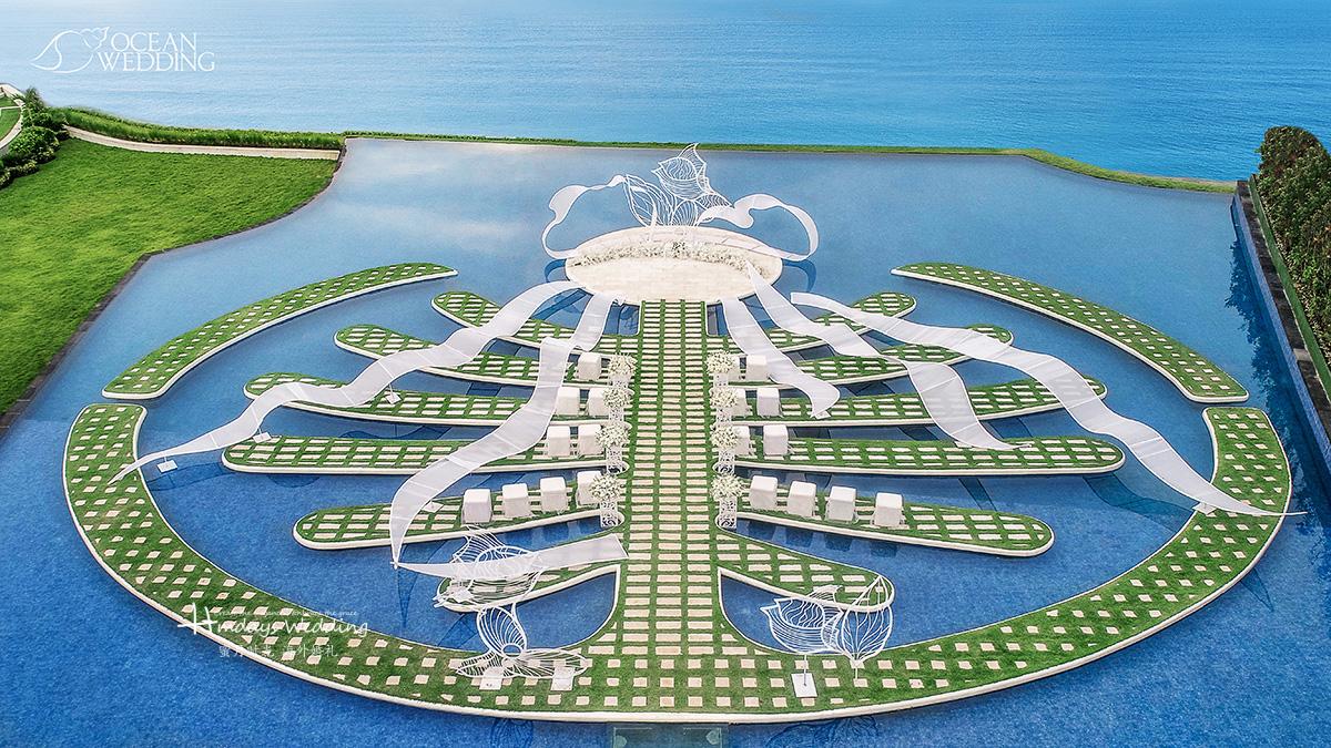 航拍角度 巴厘岛 梦幻岛 《雪落下的声音》 主题布置