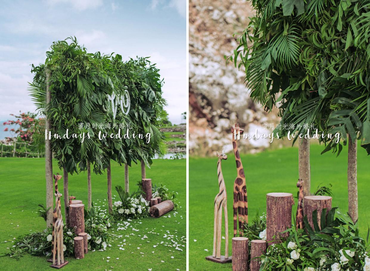 巴厘岛时光森林海景草坪婚礼