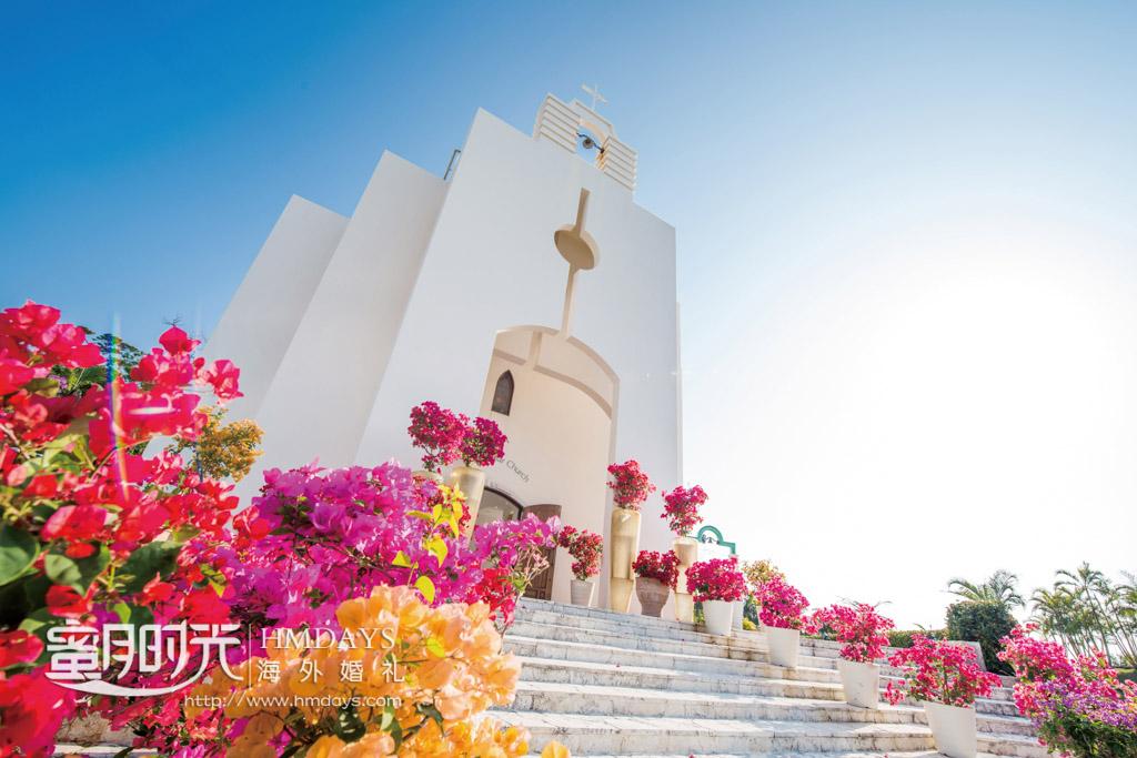 浓郁英式南欧情调的西式教堂 冲绳斯黛拉(海之缘)教堂婚礼