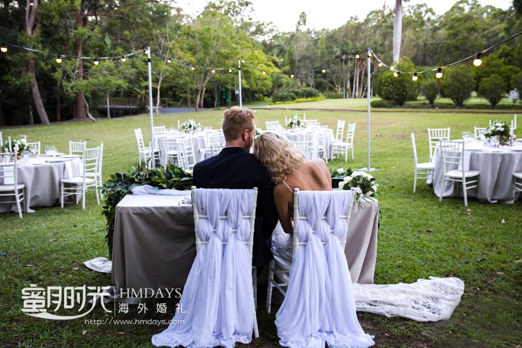 专门为新人准备的晚宴VIP区 澳洲庄园婚礼晚宴