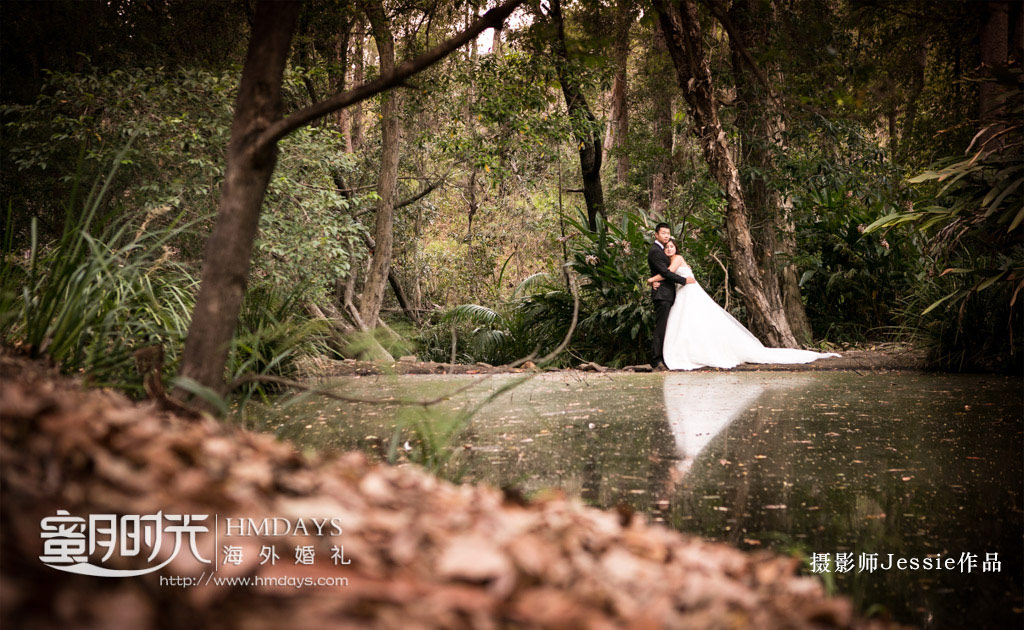 庄园湖边取景 澳洲庄园教堂婚礼