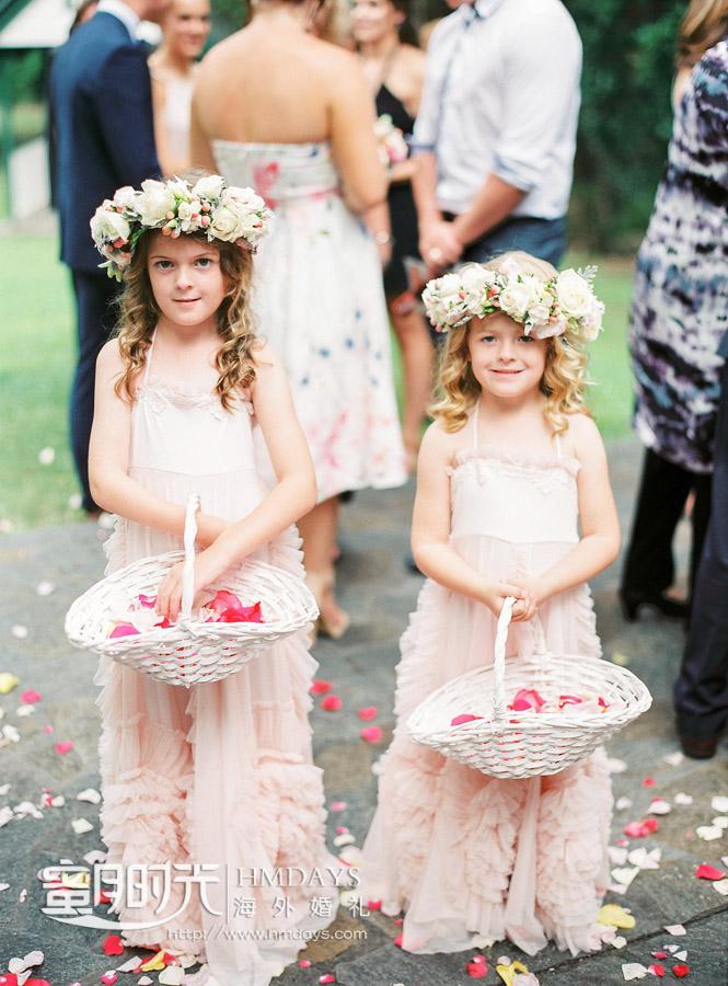 可爱的花童 澳洲庄园教堂婚礼