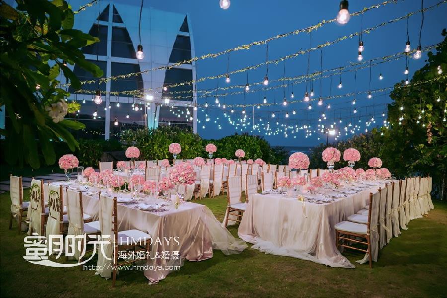 丽思卡尔顿教堂巴厘岛婚礼晚宴 巴厘岛丽思卡尔顿教堂婚礼