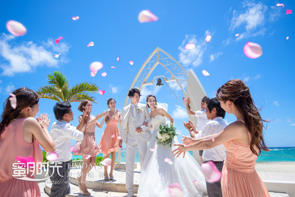 lazor圣钟仪式环节 冲绳拉索尔(海之翼)教堂婚礼