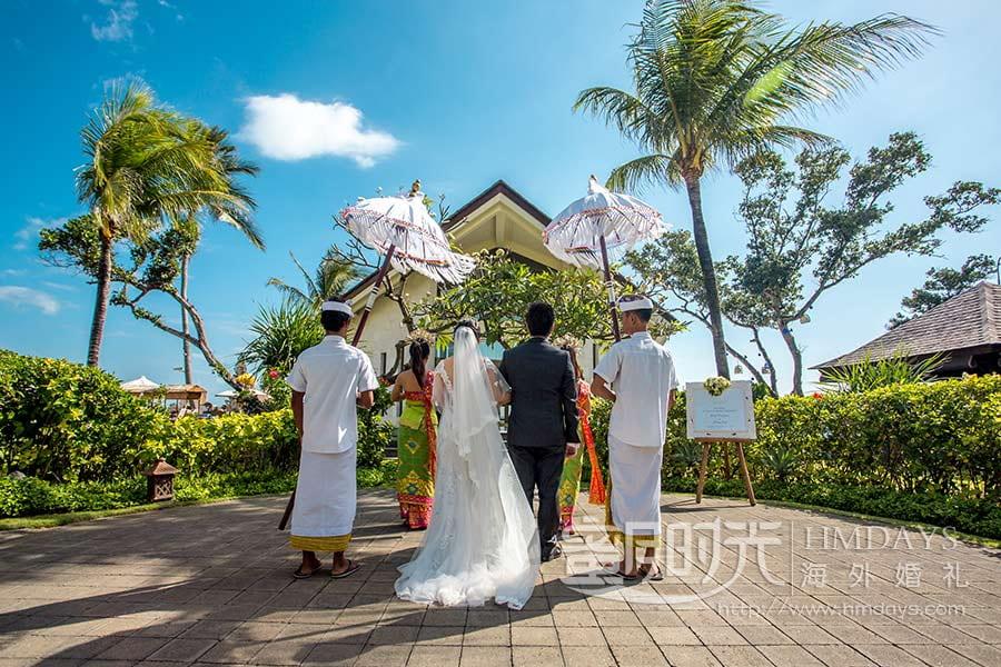 巴厘岛水名漾教堂婚礼