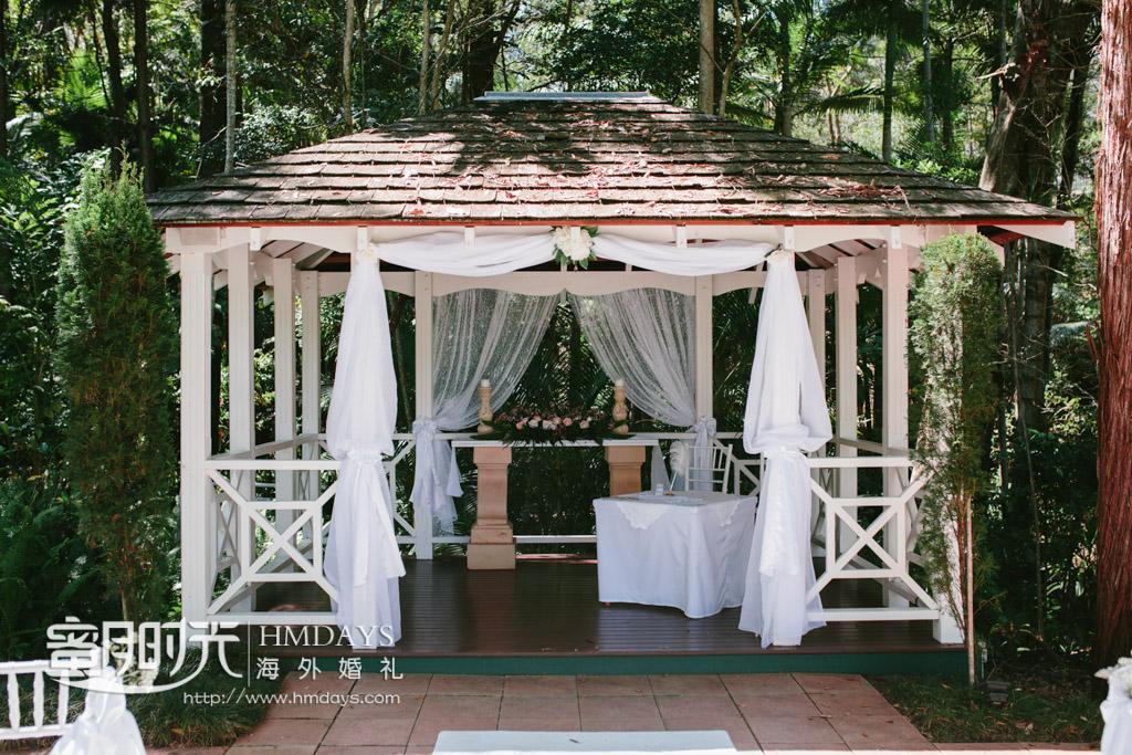凉亭特写 澳洲庄园森林婚礼