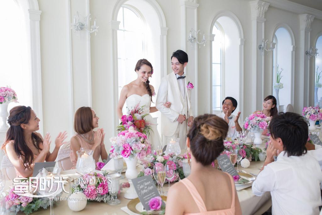 和大家一起畅饮吧,干杯 冲绳拉索尔(海之翼)教堂婚礼