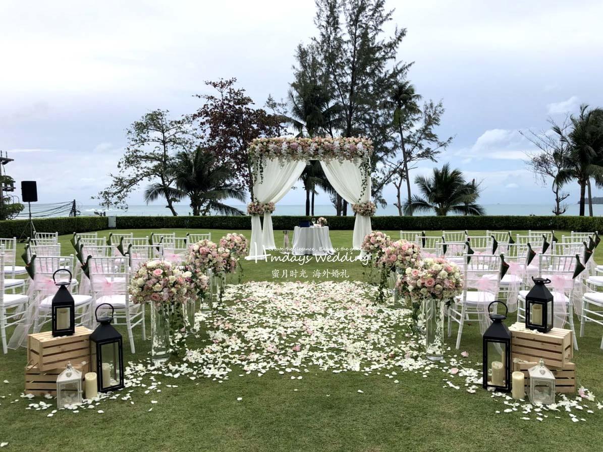 付费升级布置_手机拍摄原图_ 普吉岛卡马拉草坪婚礼