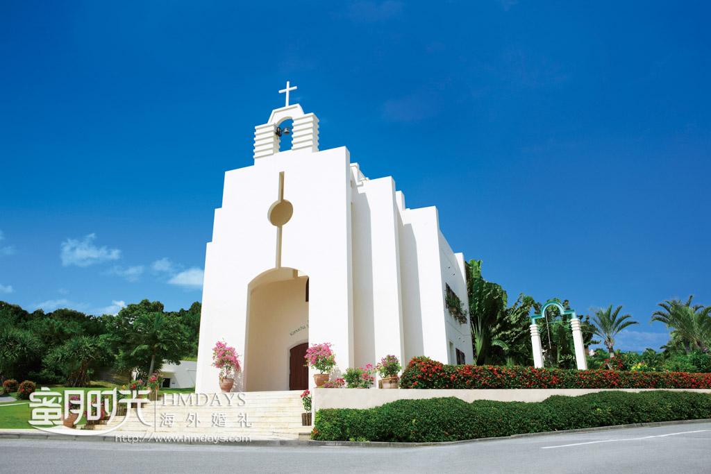 Kanucha_stelar_斯黛拉教堂正面 冲绳斯黛拉(海之缘)教堂婚礼