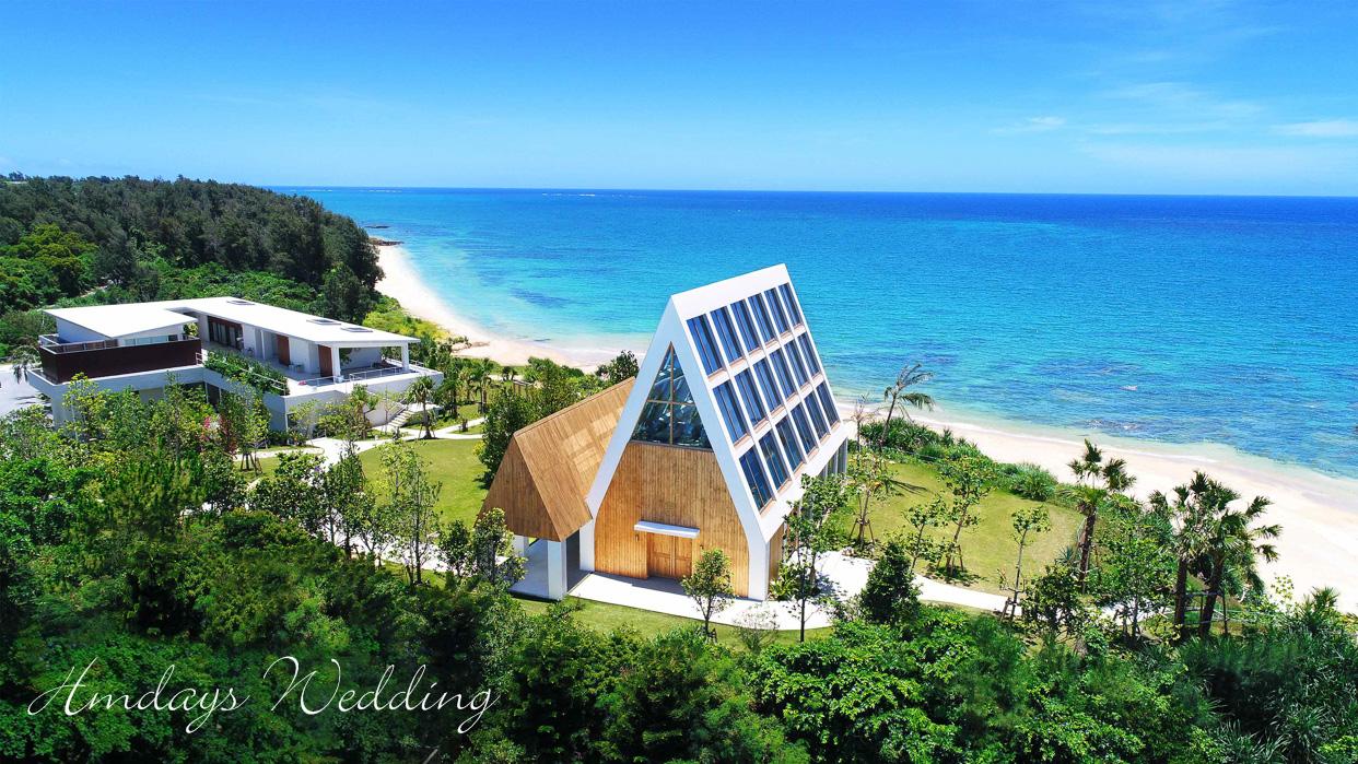 被美之海与森林环绕的秘境 冲绳美之教堂婚礼