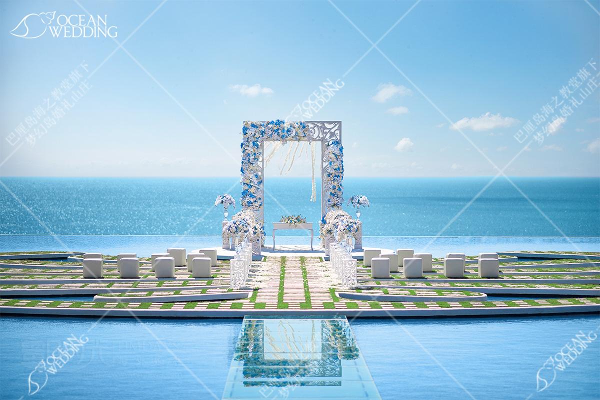 巴厘岛梦幻岛婚礼_蓝白标准布置_ 巴厘岛 梦幻岛 免费布置 蓝白