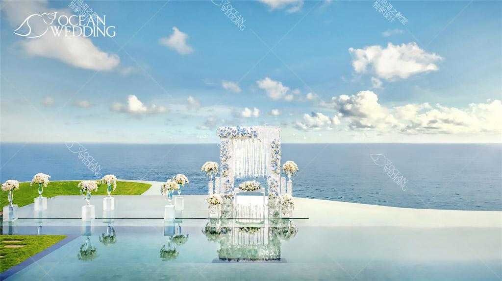 天空之镜2018版本布置_免费_ 巴厘岛海之教堂海外婚礼山庄场地展示