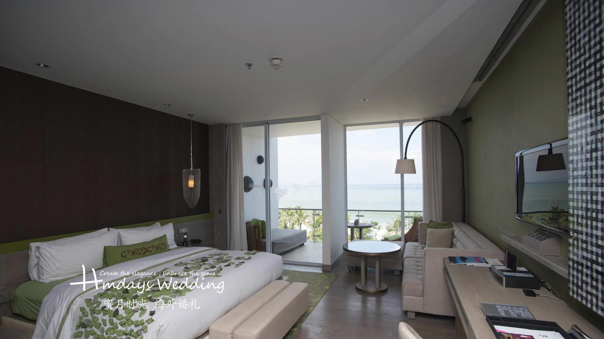 套系赠送房间 巴厘岛W酒店沙滩婚礼