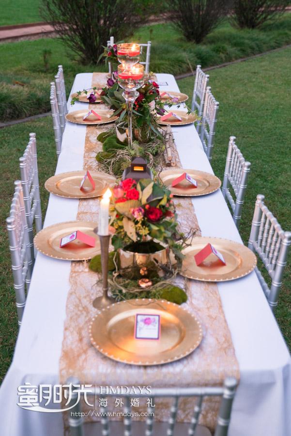 婚礼晚宴长桌特写 摄影师客片效果展示