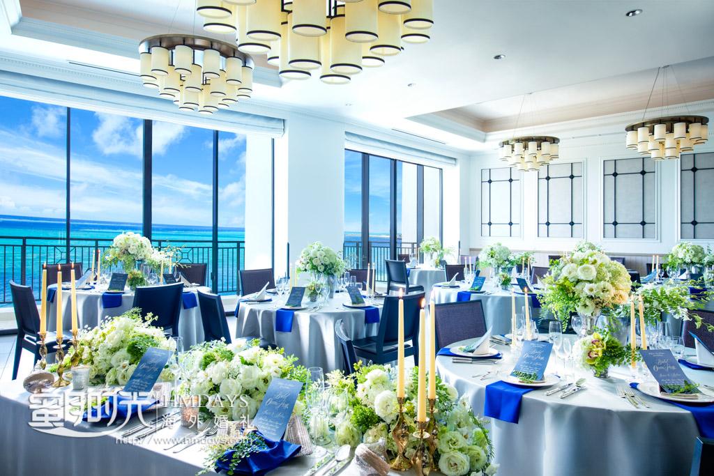 moterney酒店的晚宴厅 冲绳露梅尔(海之光)教堂婚礼
