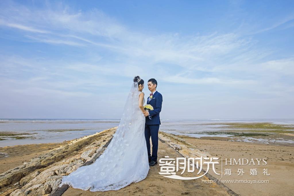 巴厘岛港丽沙滩婚礼