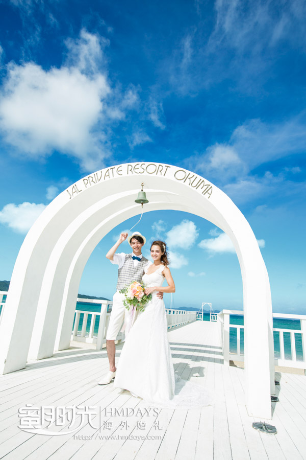 felicia飞亚教堂的圣钟仪式环节拍摄 冲绳飞亚(海之空)教堂婚礼