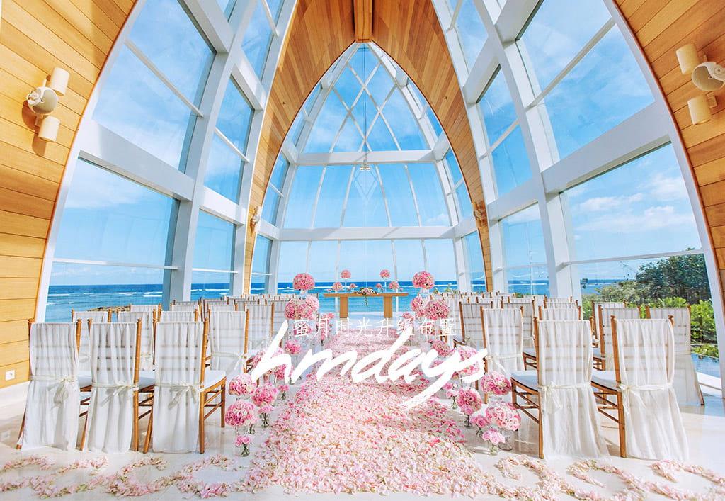 巴厘岛ritz_carlton教堂升级布置by_HMDAYS 巴厘岛丽思卡尔顿教堂婚礼