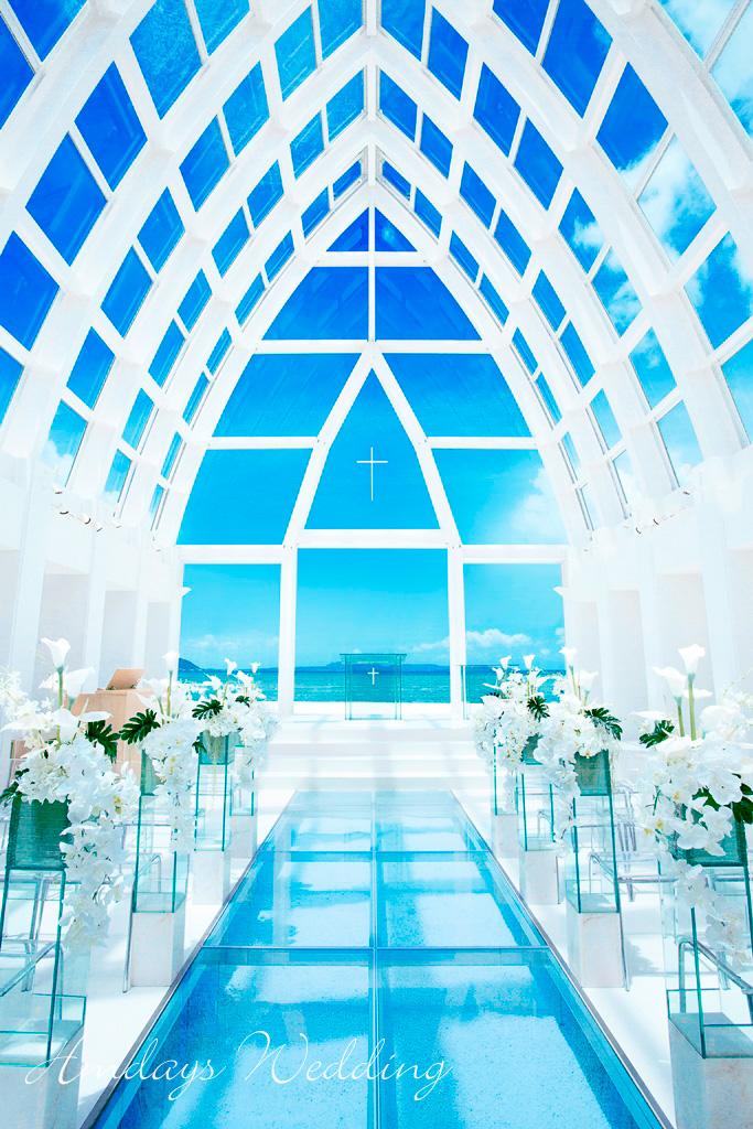 飞亚教堂2019标准布置 冲绳飞亚(海之空)教堂婚礼