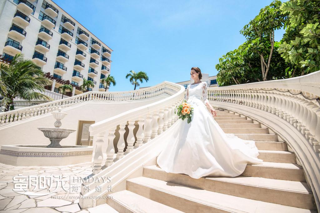 在教堂举办婚礼,结束之后可以在酒店景区取景 冲绳星耀(海之耀)教堂婚礼
