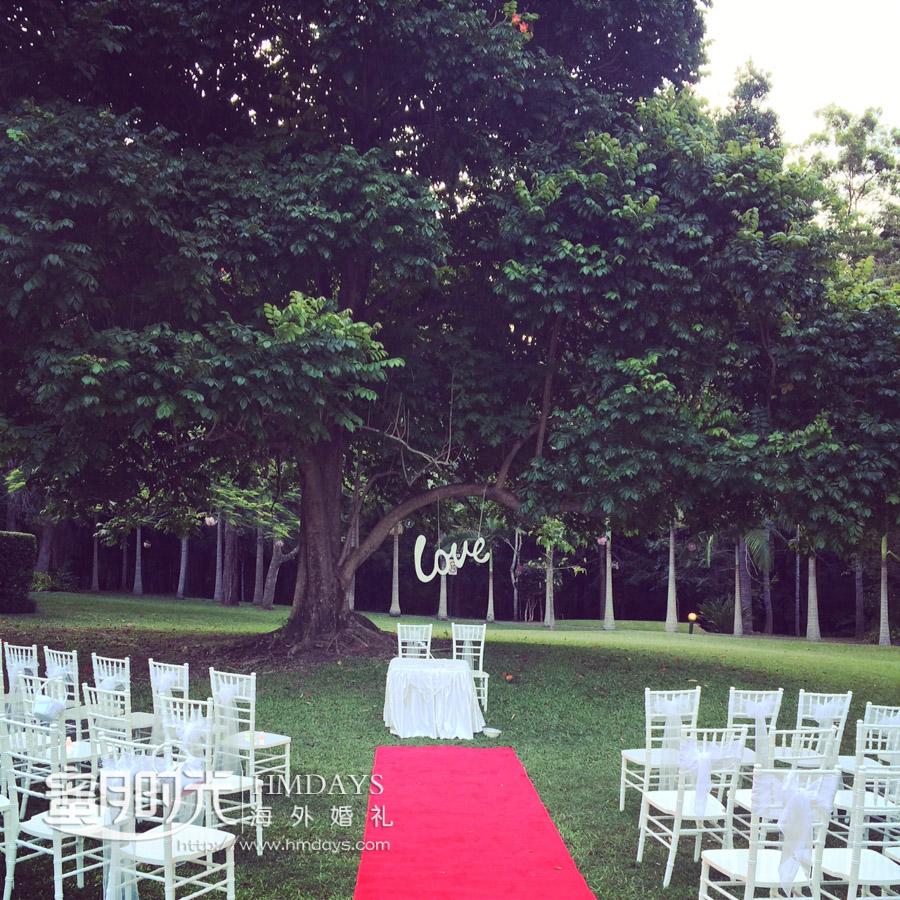 大树下举办海外婚礼,澳洲婚礼 澳洲庄园大树婚礼