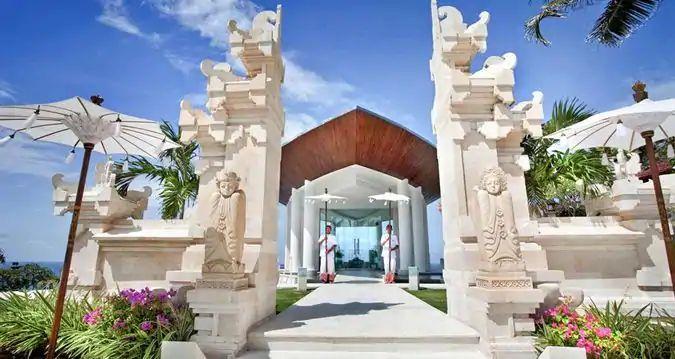 巴厘岛希尔顿酒店wiwaha教堂 巴厘岛希尔顿叶子教堂婚礼