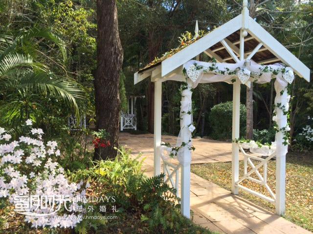 凉亭婚礼侧面展示 澳洲庄园森林婚礼