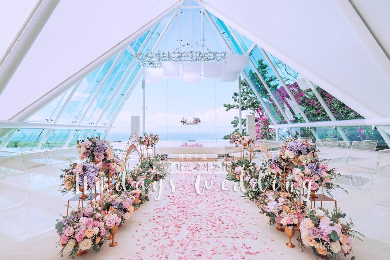 付费升级布置 巴厘岛水之教堂婚礼(tirtha bali)