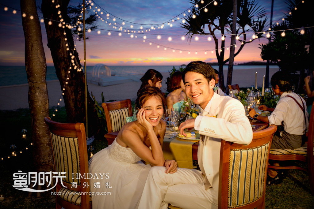在okuma酒店餐吧的抓拍 冲绳飞亚(海之空)教堂婚礼