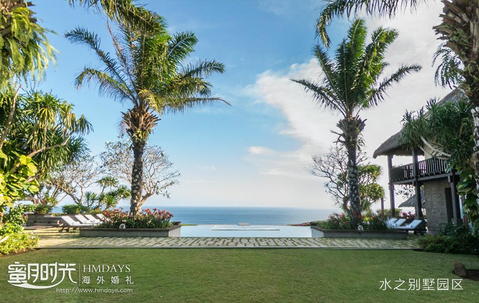 巴厘岛水之别墅水上婚礼