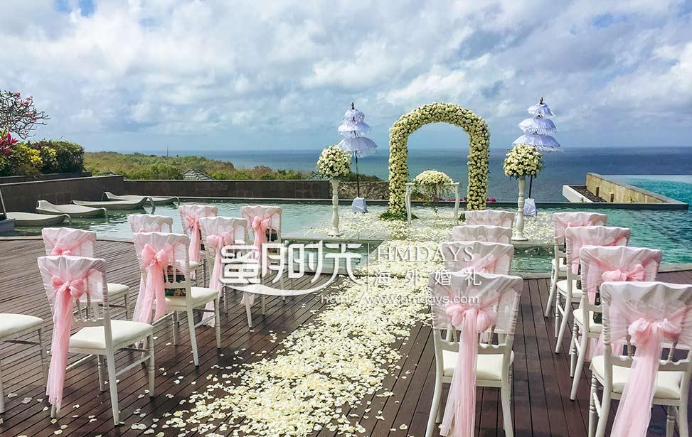 巴厘岛悦榕庄永恒水台婚礼 - banyan tree water pool wedding