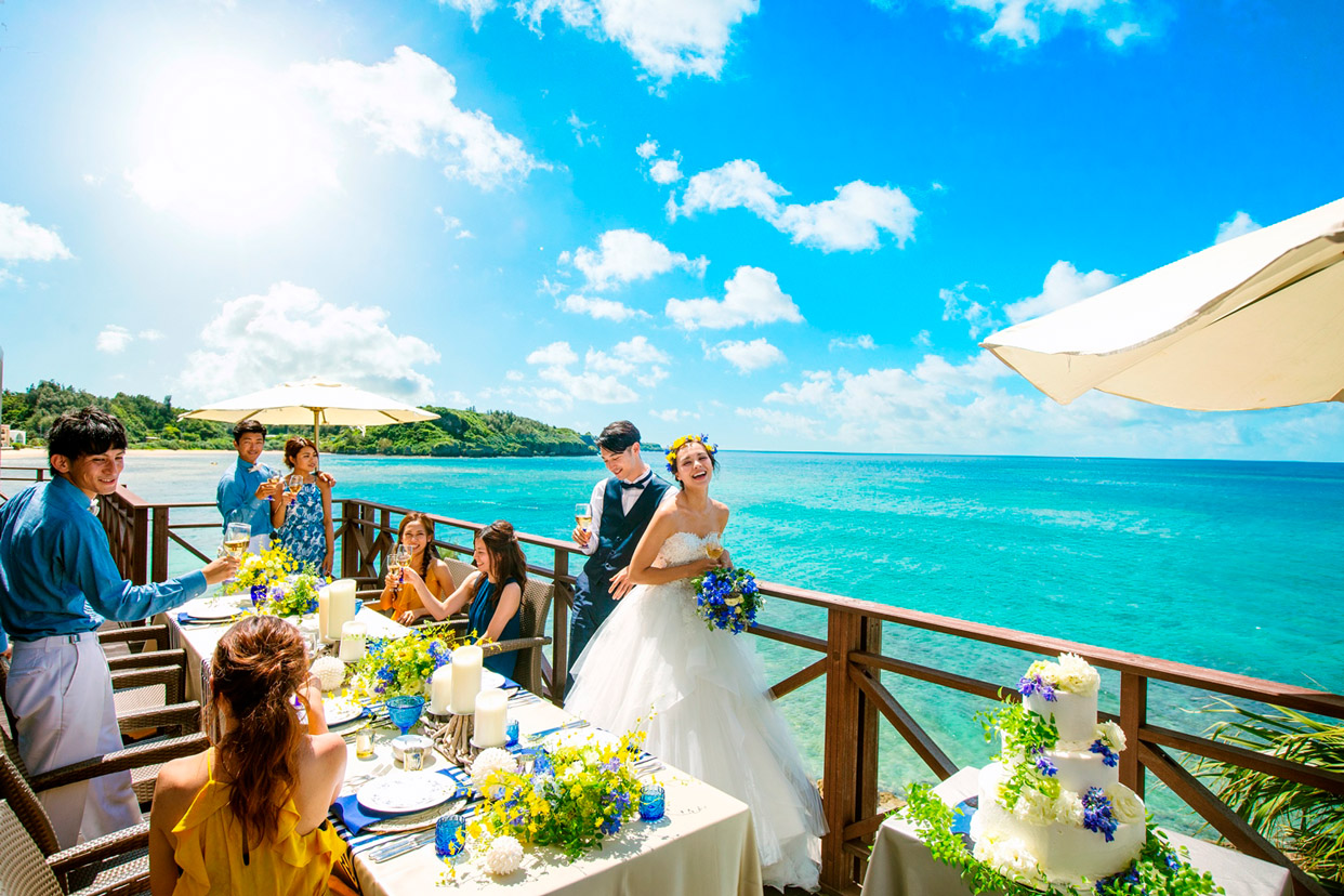 冲绳丽贝拉(海之心)教堂婚礼