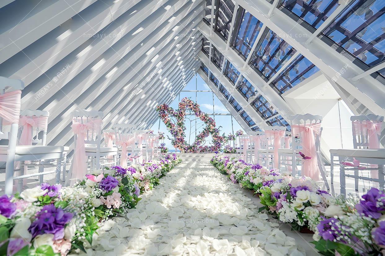 蝴蝶花园定制布置 巴厘岛白鸽教堂婚礼