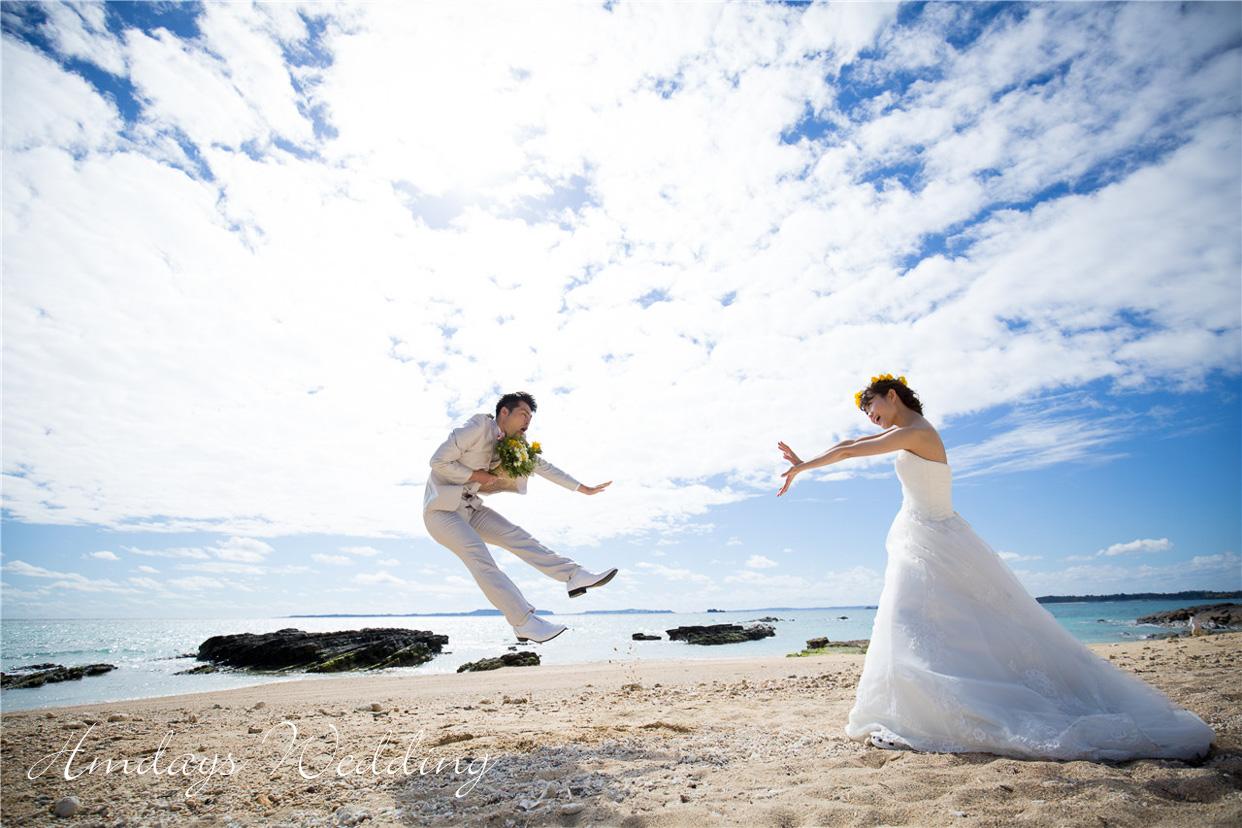 梦幻婚礼后_充分享受宜野座的自然婚纱摄影_ 冲绳美之教堂婚礼