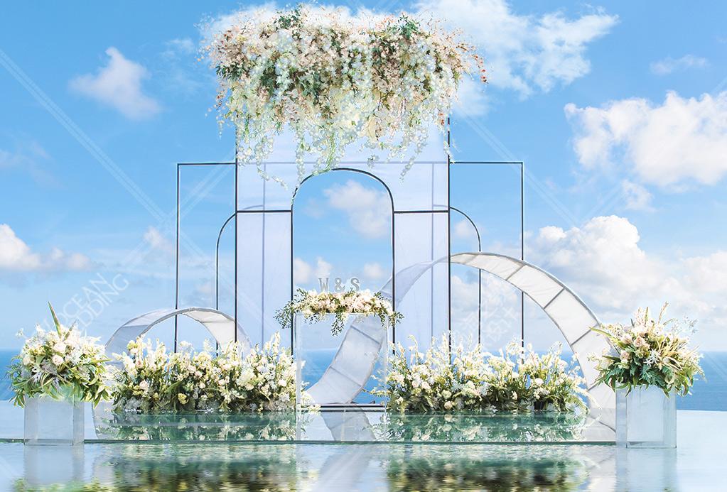 巴厘岛 天空之镜婚礼 2019标准布置 绿色 免费