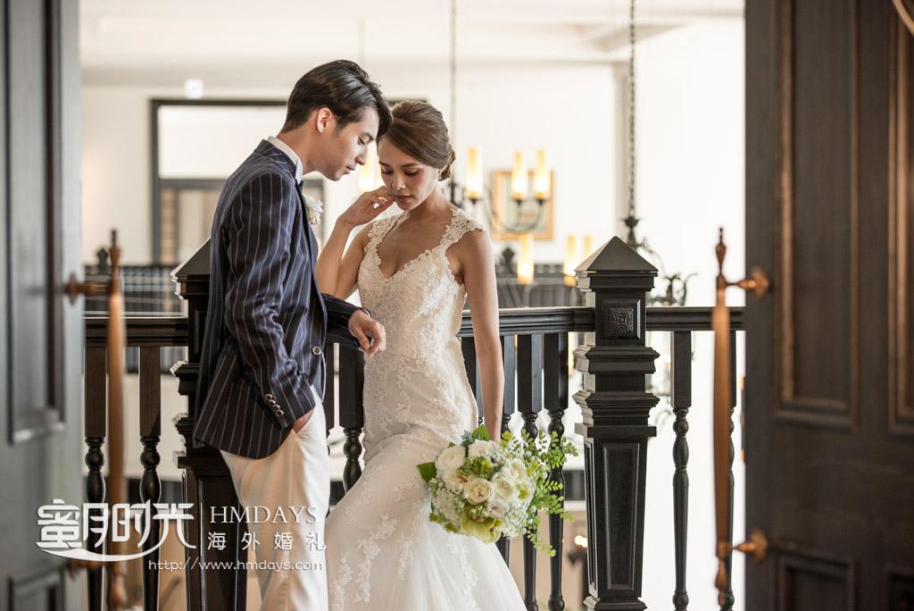 婚礼婚纱照摆拍 冲绳露梅尔(海之光)教堂婚礼