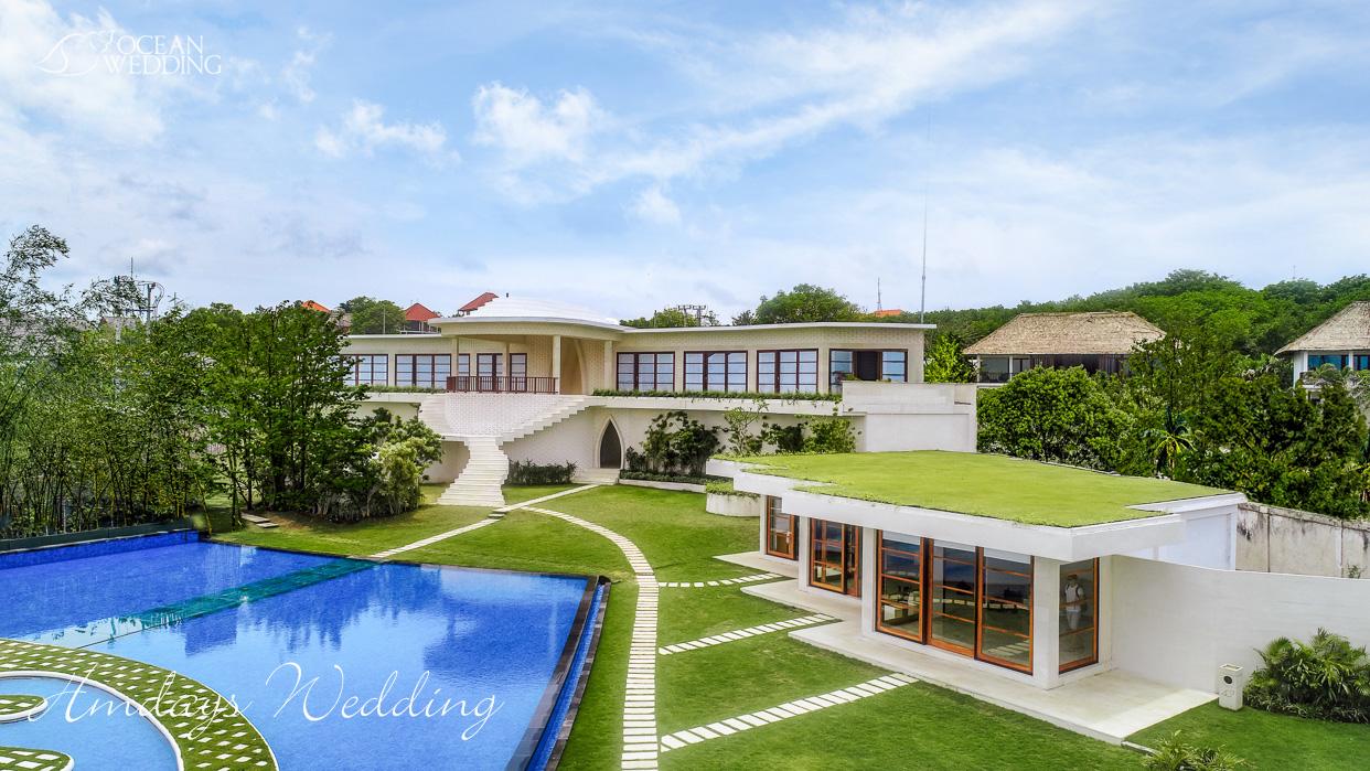巴厘岛梦幻岛外景图 巴厘岛梦幻岛婚礼山庄准备间及休息室