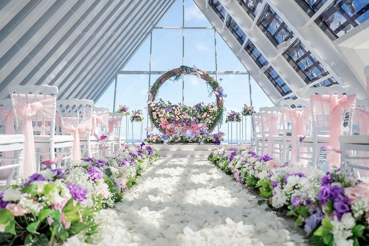 静谧之门定制布置 巴厘岛白鸽教堂婚礼