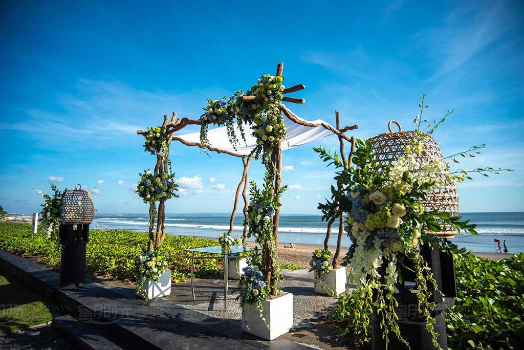 巴厘岛W婚礼 巴厘岛W酒店沙滩婚礼