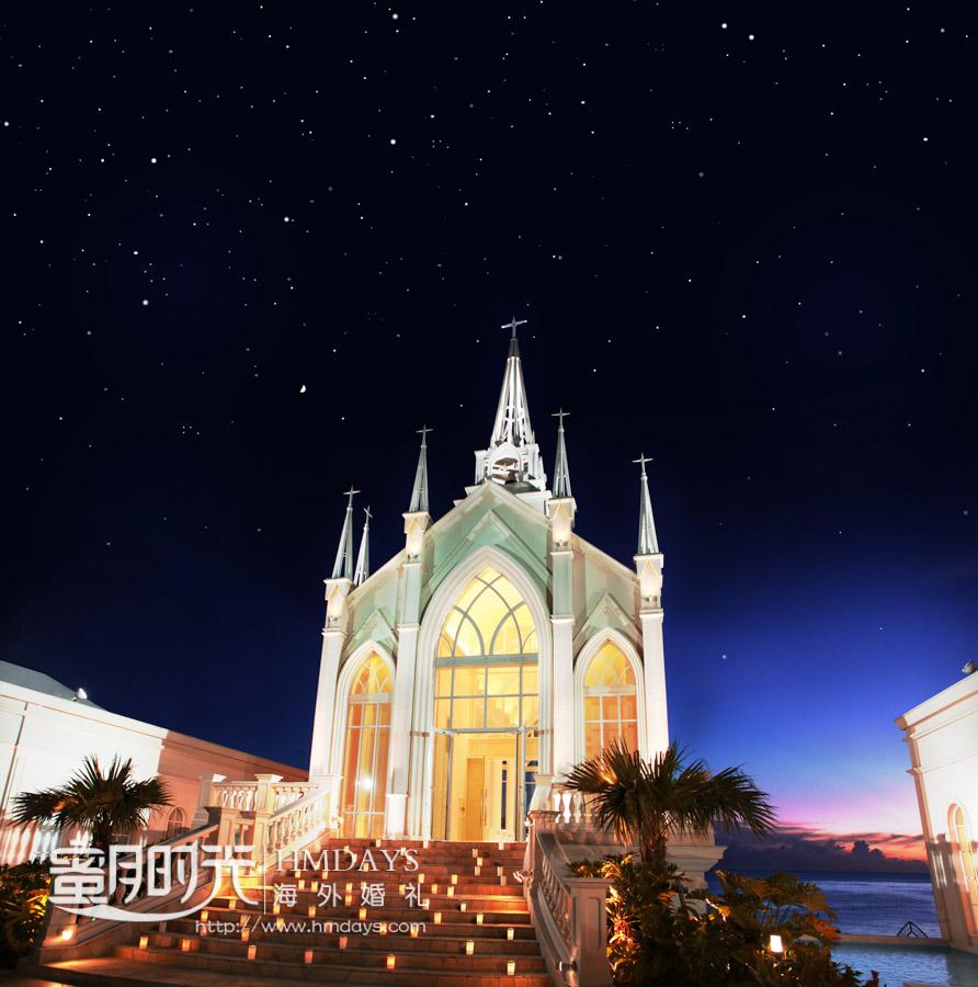 LazorGardenAlivila日本冲绳教堂2011年3月建造的全新教堂 冲绳拉索尔(海之翼)教堂婚礼