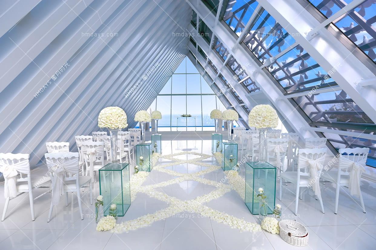 标准布置 巴厘岛白鸽教堂婚礼