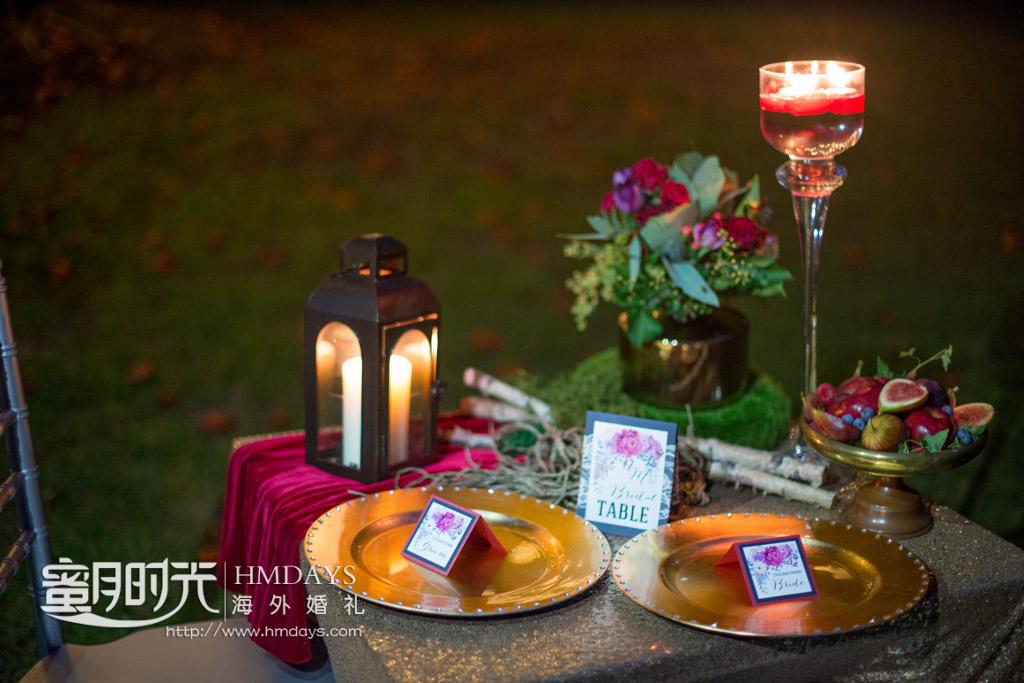 精心装点的两人浪漫小晚宴 摄影师客片效果展示
