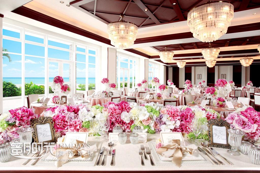 lazor酒店晚宴厅 冲绳拉索尔(海之翼)教堂婚礼