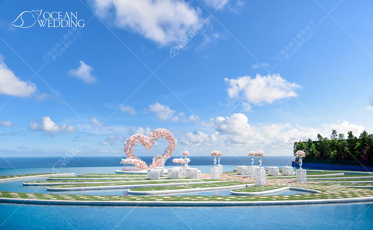 梦幻岛粉色心形布置_免费标准布置 巴厘岛 梦幻岛 心形 免费布置