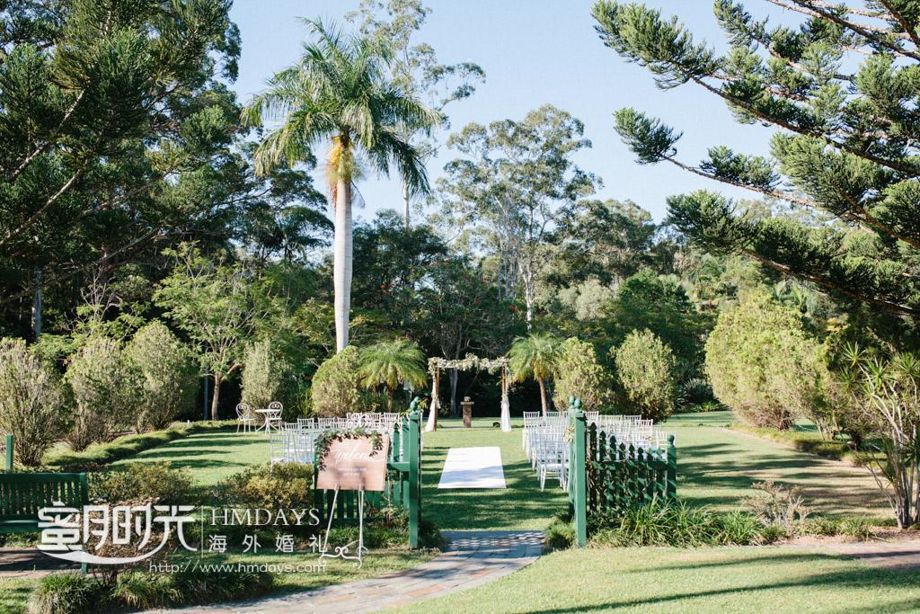 草坪婚礼正面全景拍摄 澳洲庄园草坪婚礼