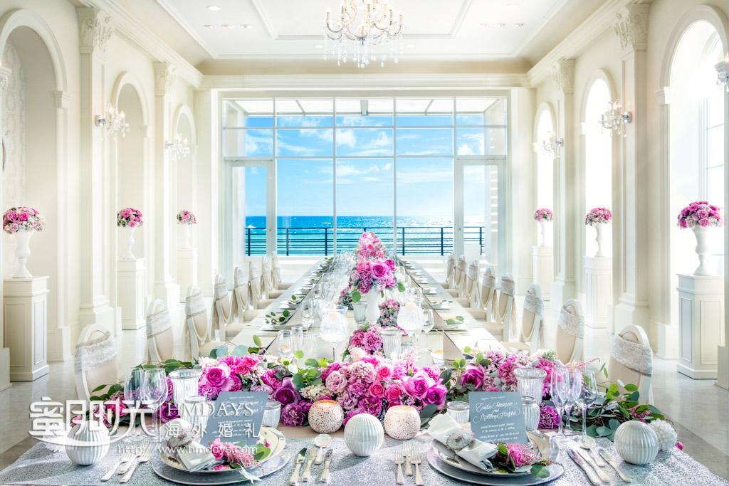 lazor教堂也是可以举办晚宴的酒店之一 冲绳拉索尔(海之翼)教堂婚礼